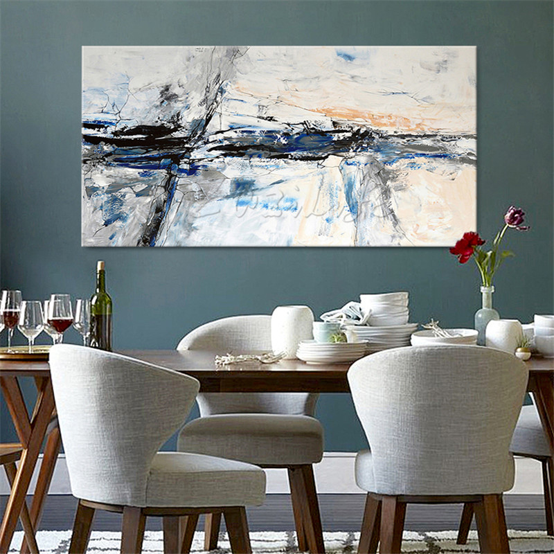 Nordic painting canvas oil paintings Wall art Pictures for living room Home decor Hand painted modern abstract cuadros quadro06