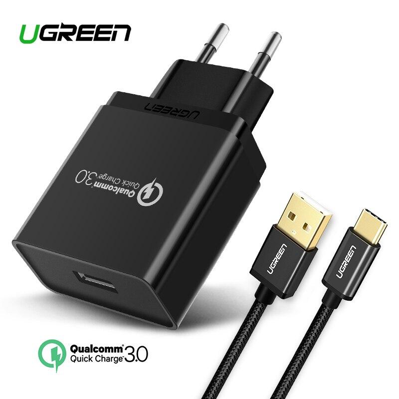 5d34c4556e59 Ugreen USB Chargeur 18 w Charge Rapide 3.0 Mobile Téléphone Chargeur pour  iPhone Rapide QC 3.0