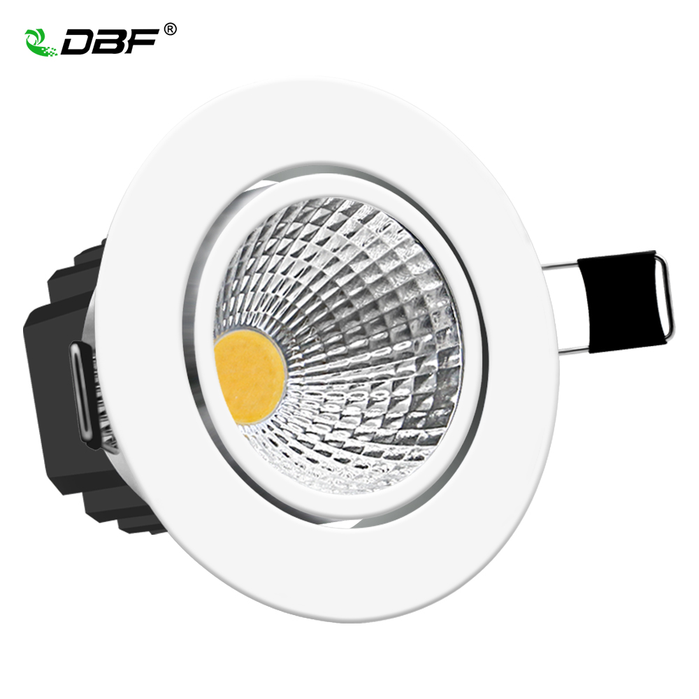 [DBF]Classic Round White Dimmable LED Recessed Downlight 5W 7W 9W 12W with AC 85-265V LED Driver Ceiling Spot Light Bedroom Shop