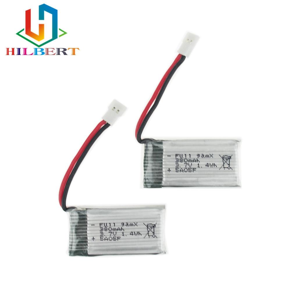 3 7v 380mah Lipo Battery With X4 Battery Charger For: 2 Pcs/lot 3.7V 380mAh LiPo Battery For JJRC H6C Hubsan
