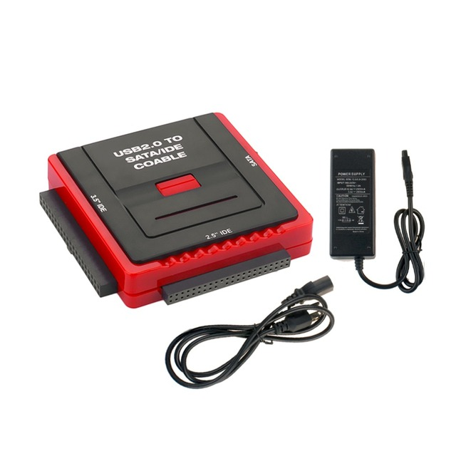 Square Base Multifunción Docking Station USB 2.0 2.5/3.5 Pulgadas SATA IDE HDD Muelle de DISCO DURO Cd-rom Plug EE.UU.