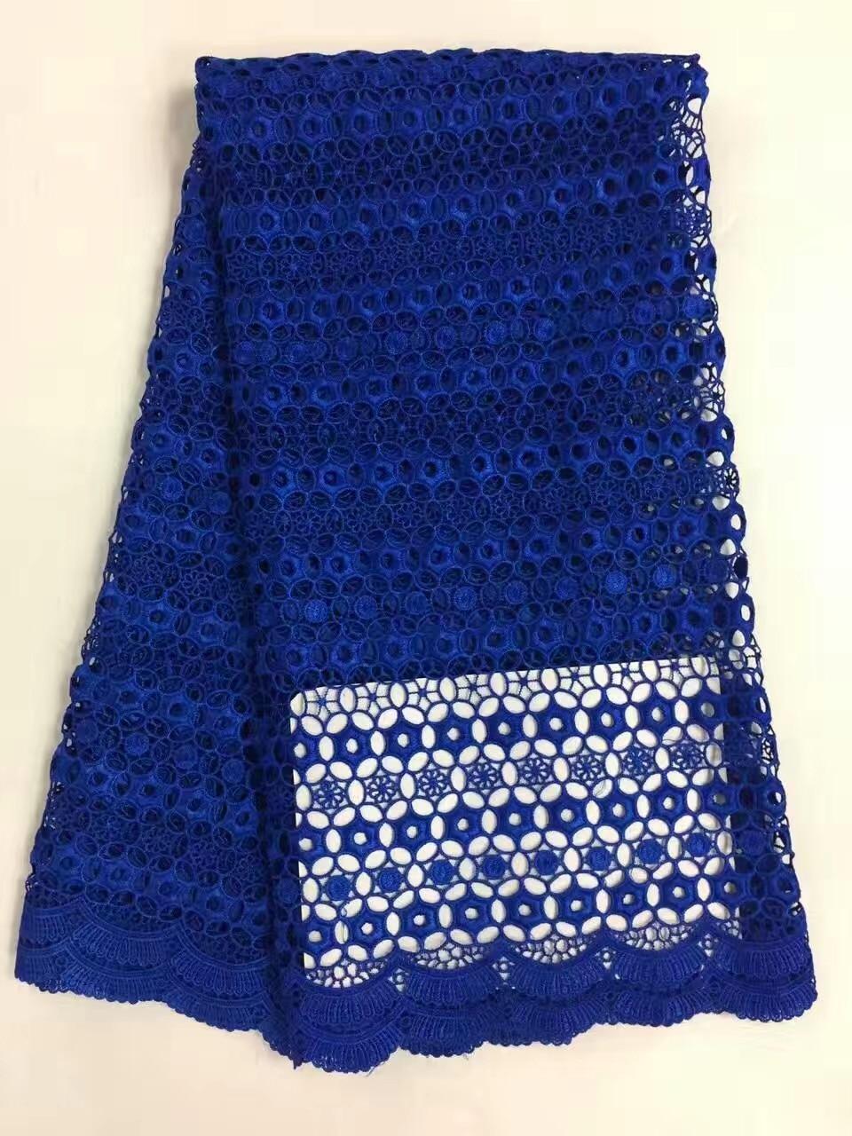 RL110802 Horký africký polyesterový nigérijský krajkový šněrovací krajka, vysoce kvalitní ve vodě rozpustná krajka Tkanina pro svatební šaty 5 let / šarže