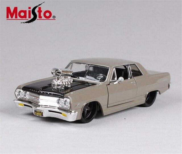 1:24 Сплава Литья Под Давлением Модели Автомобиля 1:24 Maisto 1965 Chevrolet Malibu SS Литья Под Давлением Модели Автомобиля Мышцы Автомобиль модели Brinquedos
