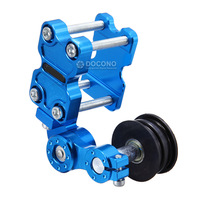 DOCONO New Adjustable Aluminum Chain Tensioner Bolt On Roller Motorcycle Chopper ATV Dirt Bike Universal Fit