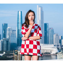 11442c58769 HFNF Casual Tops Men 's/ Women's Red Plaid T-Shirt Summer Fashion Trend