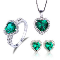 grade latest Pigeon gem Ring Earring Pendant Chain Solid 925 Sterling Silver Women Luxury Jewelry Sets Crystal suit tailor made