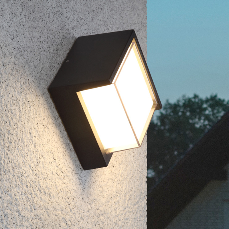 LED Outdoor Wall Light Waterproof Balcony Exterior Wall Light Hotel Stair Corridor led Wall Lamp Nordic Modern Outdoor Sconce cob square led outdoor wall lamp nordic contemporary and contracted wall lamp corridor lamp exterior balcony wall lamp