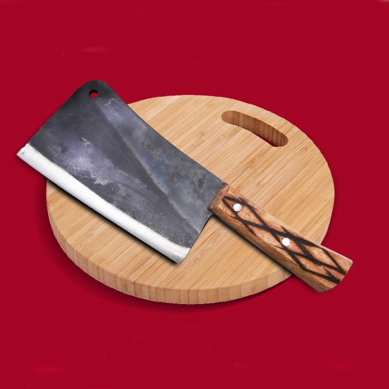 LDZ الكربون الصلب مزورة المهنية الشيف تقطيع العظام سكين قطع العظام الكبيرة الحطب سكاكين المطبخ قطع الفأس سكين الجزار-في سكاكين مطبخ من المنزل والحديقة على  مجموعة 1