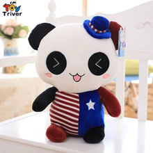 2016 hot cute panda with the the United States flag stars and stripes doll stuffed toys kids baby boy girl gift free shipping