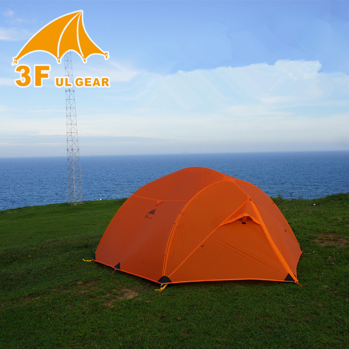 3F UL GEAR Outdoor Camping Tent Ultralight 3 Person 3/4 season 210T PU Coating Waterproof Tent Tent 15D Silicone Fabric outdoor double layer 10 14 persons camping holiday arbor tent sun canopy canopy tent