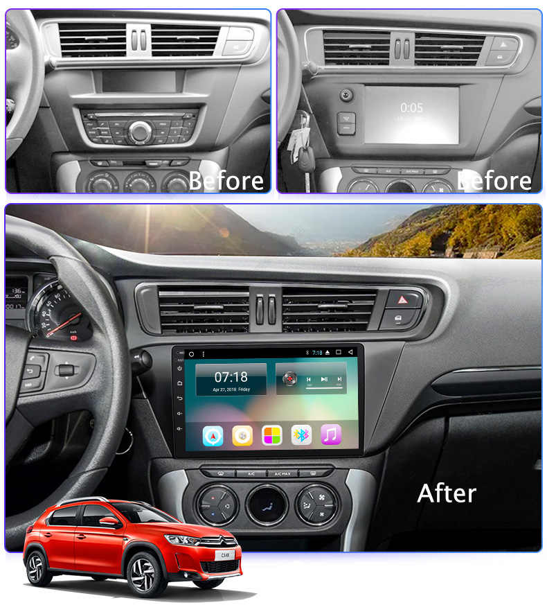 Super Slim Touch Screen Android 8 1 radio GPS Navigation for Citroen
