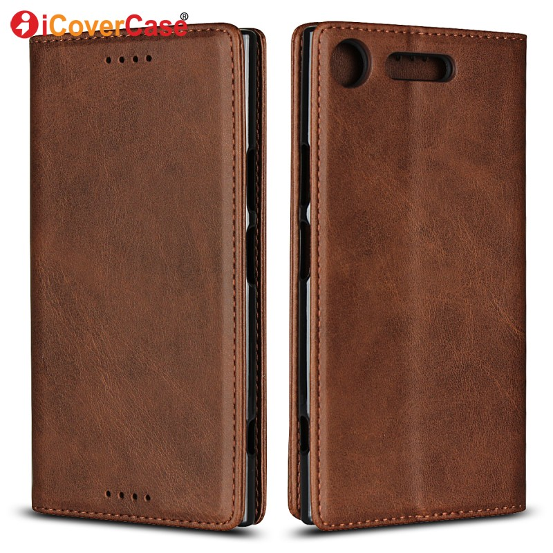 Magnetic Cases For Sony Xperia XZ1 Compact Leather Wallet For Sony