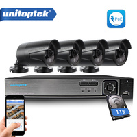Security Camera System 48V POE 4Ch 1080P NVR Kit 4Pcs 2 0MP IP Camera POE Surveillance