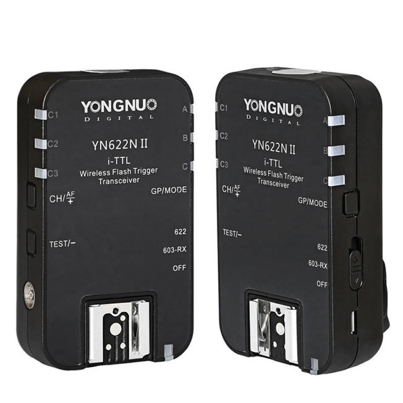 2pcs YONGNUO TTL Transceiver i TTL 2 4G Wireless Flash Trigger YN622N II HSS 1 8000S