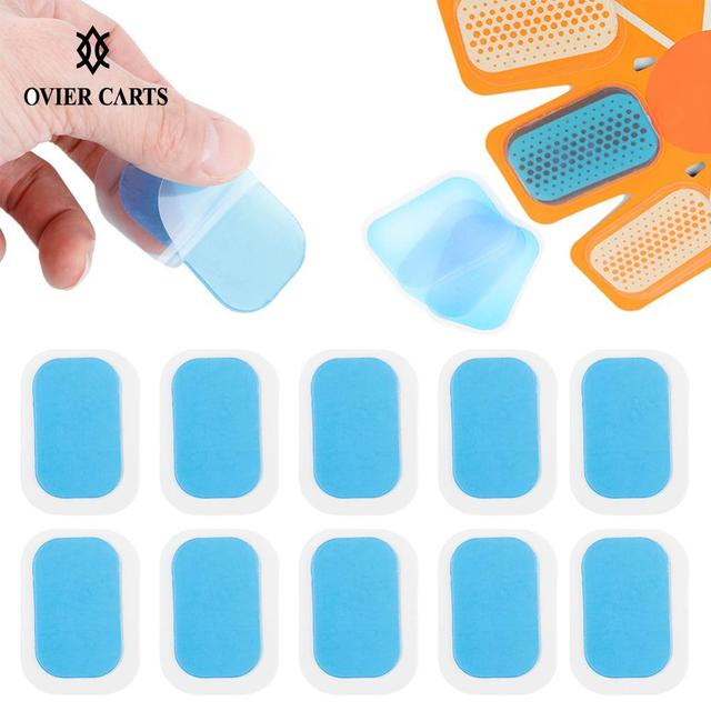 5/10 Packs EMS Trainer Hydrogel Gel Stickers Abdominal Muscle Stimulator ABS Gel Pads Abdomen Slimming Massage Machine Fitness