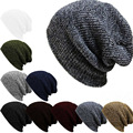 New design autumn winter warm fashion men hip hop cap high quality unisex handmade knit wool stripe hat