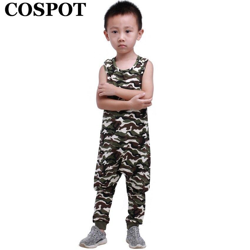 COSPOT Baby Boys Girls Playsuits Boy Girl Summer Romper Kids Fashion Leopard Camouflage Jumpsuit Children Cotton Jumper 2017 F30