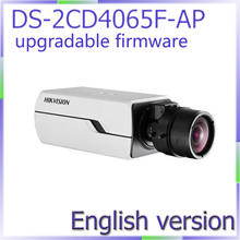 Big sale free shipping DS-2CD4065F-Ap english version 6MP Smart IP Box Camera Digital WDR with P-iris