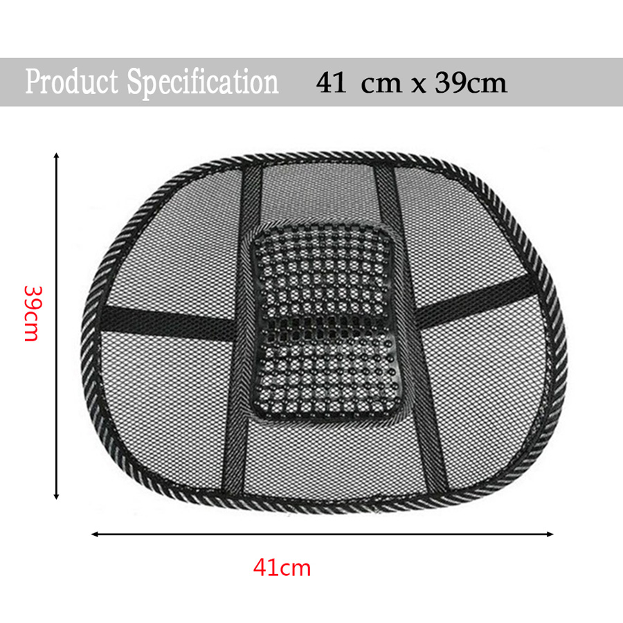 Back Support Massage Cushion Mesh Relief Lumbar Brace Car Truck