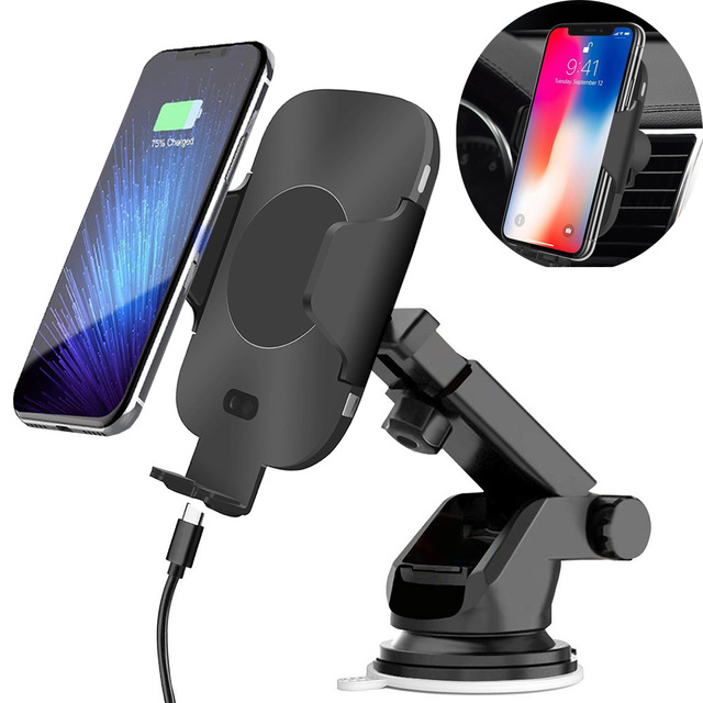 10W QI Wireless Charging Car Charger Infrared Induction Air Vent Suction Cup Phone Holder for iPhone X XS MAX XR for Samsung S8