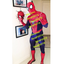 Hero Catcher High Quality 3D Cobwebs Amazing Spider Man Costume Adult Spidserman Fullbody Costume Zentai Fullbody Suit