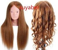 About 60cm hair length 95% natural human hair mannequin head mannequin head hair hair styling doll head