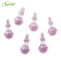 Saim Translucent Clear Acrylic Ice Rocks Pink Crystals Treasure Gems For Vase Fillers Or Table Scatters