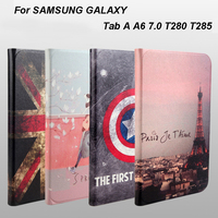 Fashion Leather Smart Case For Samsung Galaxy Tab A A6 7 0 T280 T285 SM T280