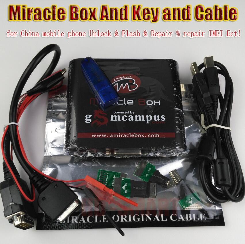 bilder für Freies schiff Ursprüngliche Miracle box + Miracle schlüssel mit kabel (2.38A hot update) für china handys Entsperren + reparatur entriegeln