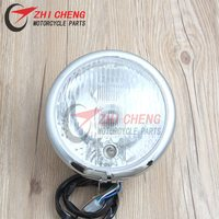 Cruise Motorcycle chrome Modified metal Headlamps Front Headlight For Honda Steed 400 600 VLX Magna 250 750 Shadow 400 750