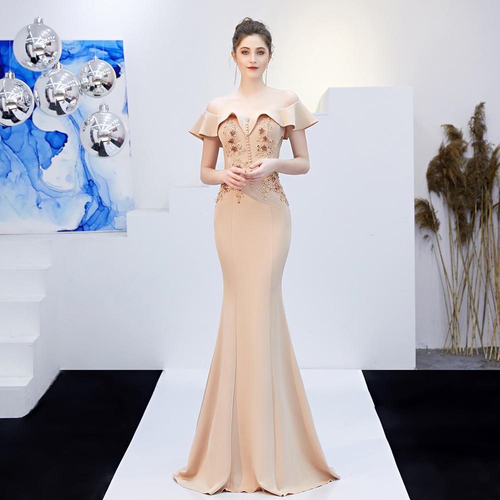 Luxe sirène robes de bal 2019 en gros rouge manches courtes perles cristal Long robe de bal robe de soirée LF452