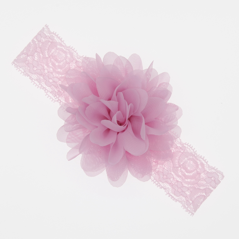 Baby Girls Hair Accessories Baby Headband Chiffon Flower Baby Elastic Lace Hair Band Newborn Infant Headbands For Girls Headwear
