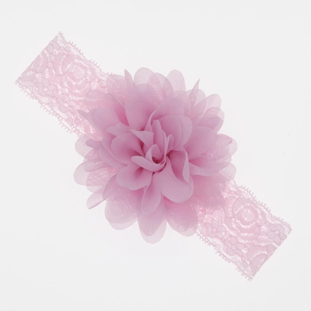 Baby Girls Hair Accessories Baby Headband Chiffon Flower Baby Elastic Lace Hair Band Newborn Infant Headbands For Girls Headwear