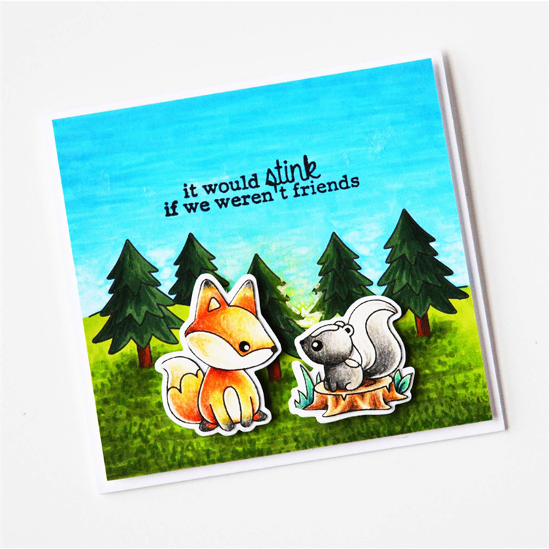 Eastshape Metal Cutting Dies New 2019 Forest Animal Card Making for Scrapbooking Fox Decor