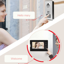 220V Video Door Phone Intercom Entry System w/ 2 Monitors Smart door bell Phone Doorbell For Apartment Villas EU Plug NEW