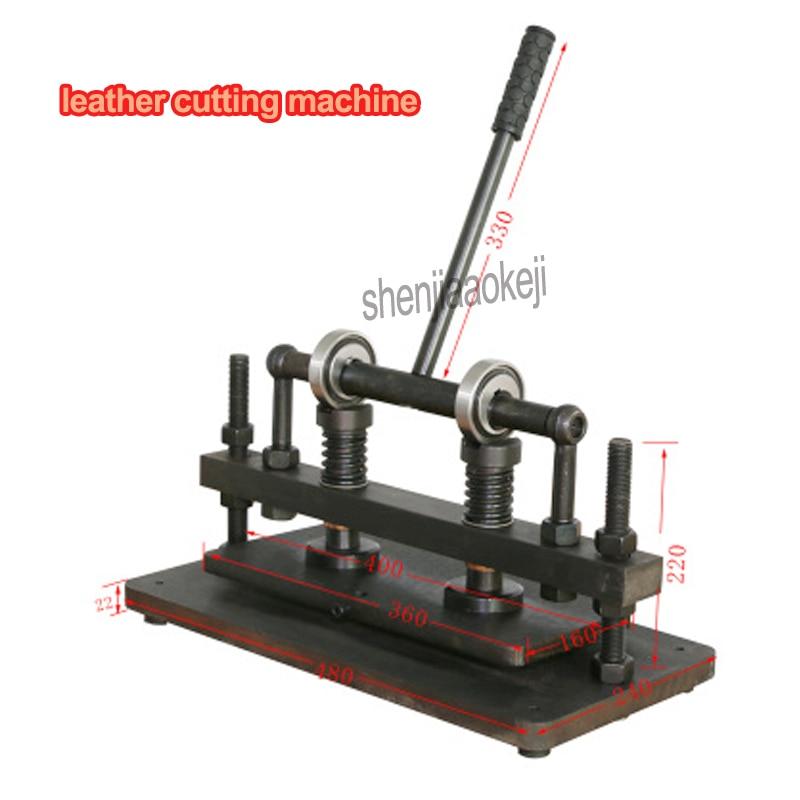 Coupeur manuel de moule de feuille de PVC/EVA de coupeur de cuir de main de Double roue de 1 pc, machine de découpe de cuir