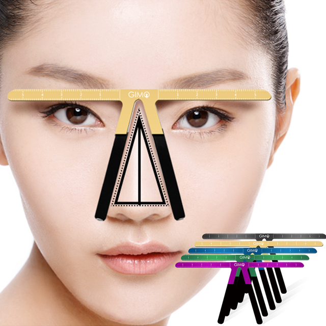 Colorful Eyebrow Ruler Makeup Shaping Position Measure Tools Eyebrow Stencils Maquiagem Ruler Balance Tattoo Stencil Template 1