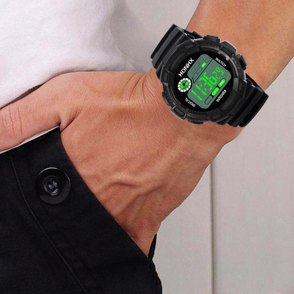 GEMIXI Для мужчин цифровые часы люкс Аналоговый силиконовой лентой цифровой в стиле милитари спортивные часы светодиодный Водонепроницаемый ...