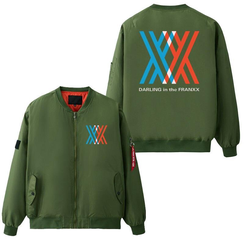 Anime chérie dans le FRANXX manteau hommes Hip Hop hiver militaire Bomber vestes armée tactique veste volante USA taille surdimensionnée