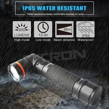 NICRON Magnet 90 Degrees 5W Ultra Bright LED Flashlight