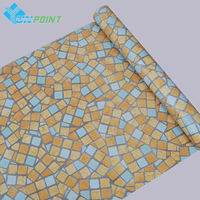 5M 16 4ft Bathroom Waterproof PVC Wall Sticker Mosaic Tiles Self Adhesive Wallpaper For Kitchen Anti