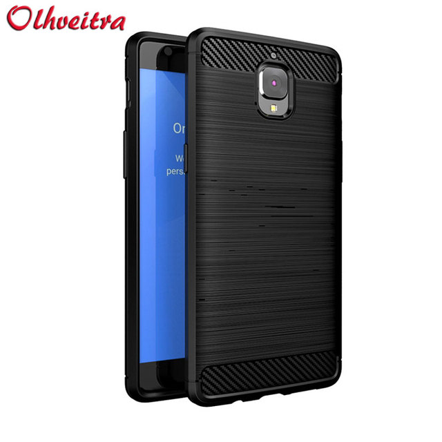 official photos 46742 5e460 US $4.59 |For OnePlus 3/OnePlus 3T case original Phone Cover Carbon Fiber  Texture Brushed Protection TPU Fundas Back cover For OnePlus 3T-in Fitted  ...