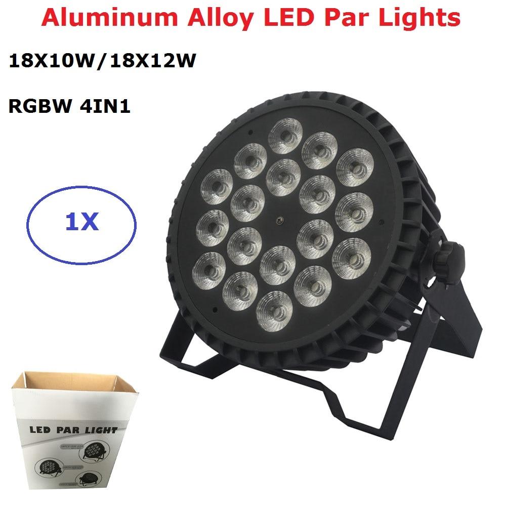 Aluminum LED Par 18X12W/18X10W RGBW 4IN1 LED Par Can Flat LED Par Lights DMX Stage Light Party KTV Disco Dj Lamp DMX 4/8 Channel 6 pcs hot sale good quality 54x3w led par light dmx dmx 8 channels aluminum par light led par can for party ktv disco dj