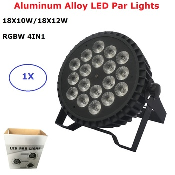 Aluminum LED Par 18X12W/18X10W RGBW 4IN1 LED Par Can Flat LED Par Lights DMX Stage Light Party KTV Disco Dj Lamp DMX 4/8 Channel