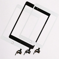 20 pcs/ lot Low Price Touch Screen Assembly Panel With Home Button And IC Connector for iPad mini 1/2/3 Repair Parts 2