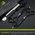 """5.5 """"cabelo preto tesoura de corte de cabelo tesoura tesoura barbeiro navalha quente projetos baratos ferramentas de cabeleireiro máquina de cortar cabelo crianças scisors"""