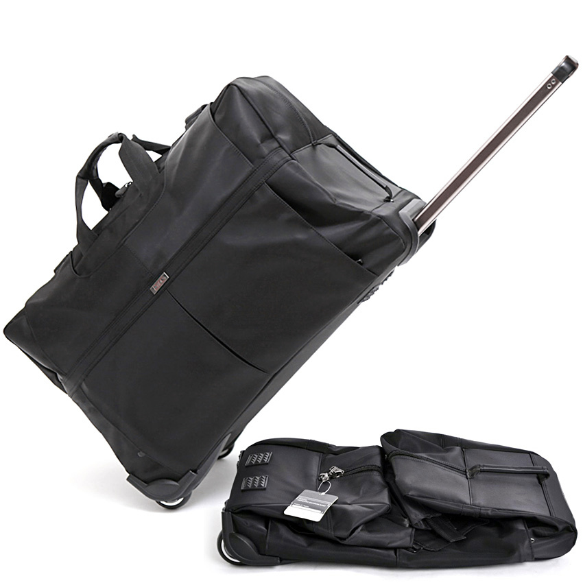 New Large Capacity Trolley Travel Bag Suitcase on Wheels Valise Bagages Roulettes Hand Trolley Unisex Folding Big Bag Duffel Bag new folding portable shopping bag shopping buy food trolley bag on wheels bag on wheels buy vegetables shopping organizer bag