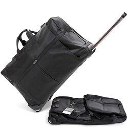 Nowa duża pojemność torba podróżna na kółkach walizka na kółkach walizka torby ruletki wózek ręczny wózek Unisex składane duża torba torba sportowa