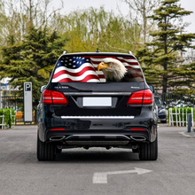 Car Sticker American Flag Eagle Decal Rear Window Windshield Sticker Rear Window Car Flag Rear Window Graphic Sticker Exterior A 3 pieces speedometer tachometer rear windshield reflective car rear window decoration speedometer sport cool car sticker