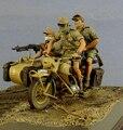 Frete Grátis 1/35 Scale Figura da Resina Alemães DA SEGUNDA GUERRA MUNDIAL no Norte da África Sem motor 3 figuras